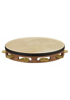 Meinl Percussion TAH1V-WB Holztambourine Vintage Ziegenfell 1-reihig Walnut Brown