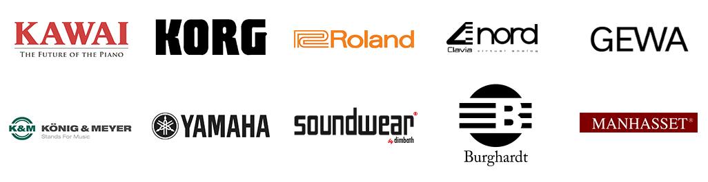 Auswahl unserer Marken der Tasteninstrumente