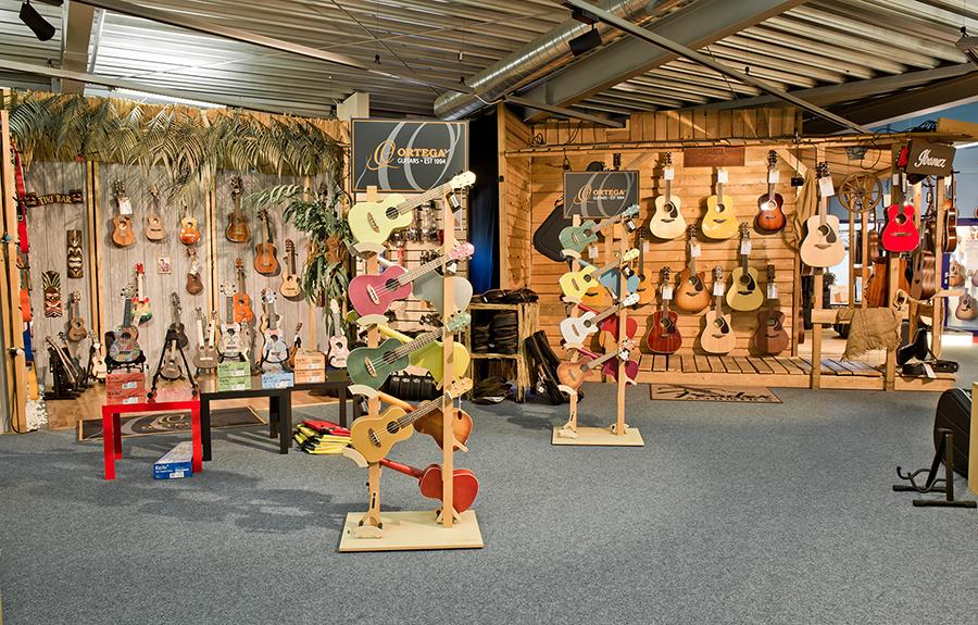 Ausstellung unserer Ukulelen