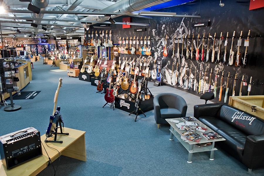 Ausstellung der E-Gitarren