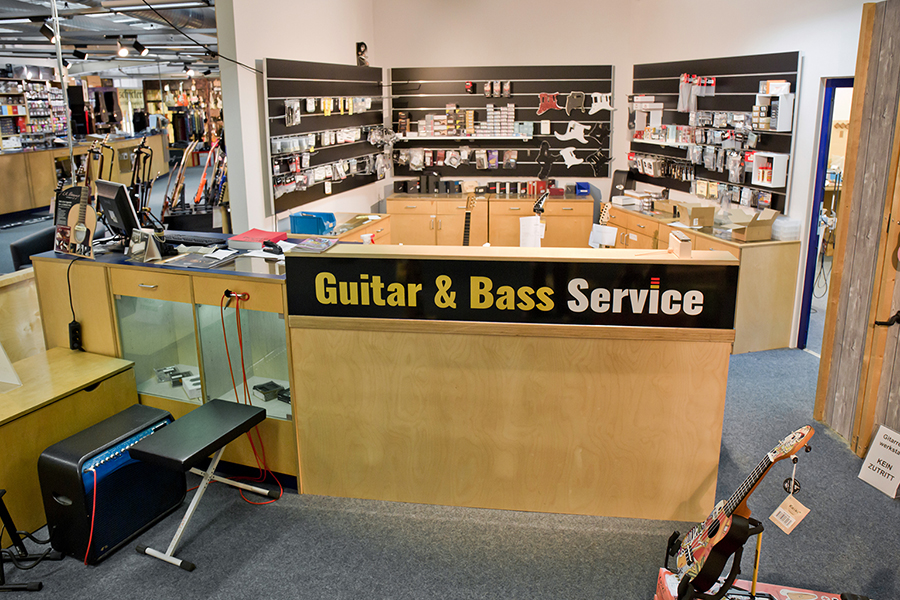 Tresen der Gitarrenwerkstatt