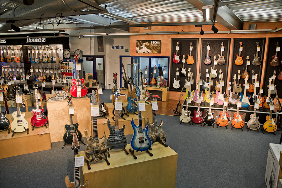 Auswahl aus der E-Gitarren-Abteilung