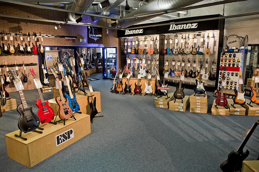 Auswahl unserer E-Gitarren-Abteilung