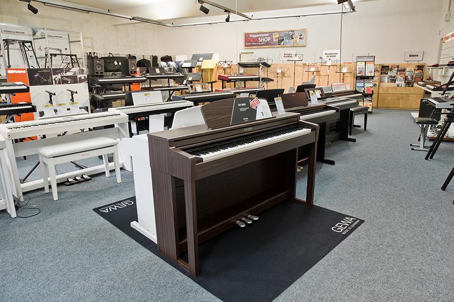 Ausstellungsraum: Digitalpianos und Keyboards