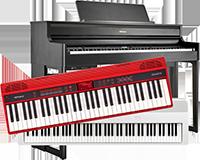 Ein Digitalpiano und zwei Keyboards