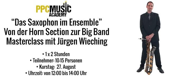 Masterclaas Saxophon Sommerfest
