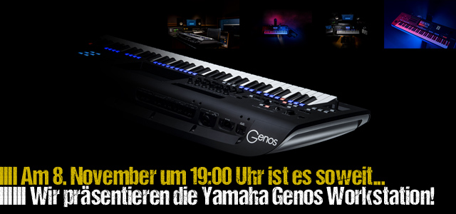 yamaha genos workshop am 8 november musiker magazin. Black Bedroom Furniture Sets. Home Design Ideas