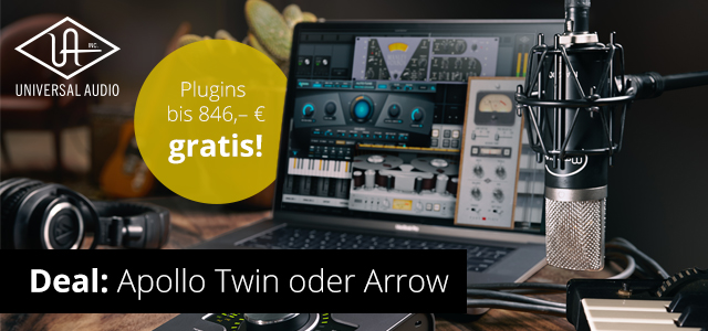 Kaufe ein Apollo Twin oder Arrow und erhalte kostenlose Plugins!