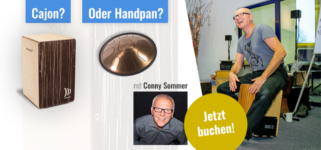 Cajon oder Handpan lernen mit Conny Sommer bei PPC Music in Hannover
