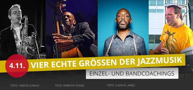 Coaching mit Größen der Jazzmusik bei PPC Music in Hannover