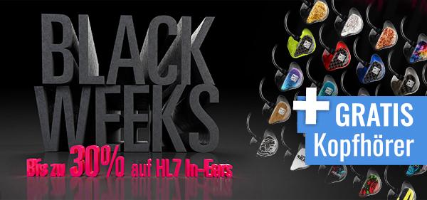 BlackWeeks bei Hörluchs und PPC_Music in Hannover! Spare bis zu 30 %auf HL7 In-Ears und sichere dir ein Paar Gratis-Kopfhörer!
